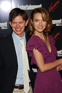 Lee Norris and Hilarie Burton at the Entertainment Weekly and Vavoom annual upfront party in New York.