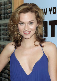 Hilarie Burton at the backstage during 2008 MTV's Total Request Live 2008 in New York.