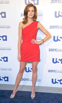 Hilarie Burton at the 2011 USA Upfront in New York.