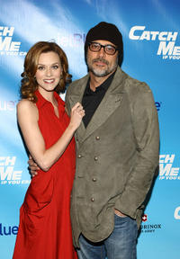 Hilarie Burton and Jeffrey Dean Morgan at the Broadway opening night of