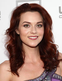 Hilarie Burton at the Herve Leger by Max Azria Collection Launch party in California.