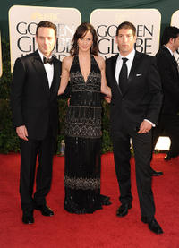 Andrew Lincoln, Sarah Wayne Callies and Jon Bernthal at the 68th Annual Golden Globe Awards.