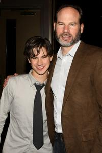 Connor Paolo and producer Bob Levy at the after party of the special screening of