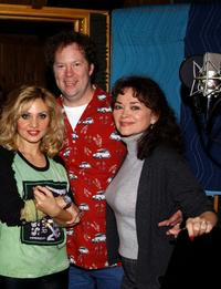 Orfeh, Shuler Hensley and Linda Hart at the recording session of the musical's CD.