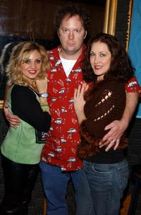 Orfeh, Shuler Hensley and Kaitlin Hopkins at the recording session of the musical's CD.