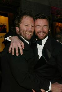 Shuler Hensley and Hugh Jackman at the 56th Annual Tony Awards.