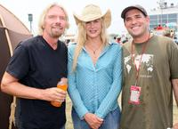 Richard Branson, Daryl Hannah and Howard Handler at the Virgin Festival