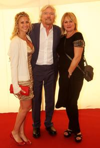 Holly, Richard Branson and his Wife Joan at the Nelson Mandelas 90th Birthday dinner.