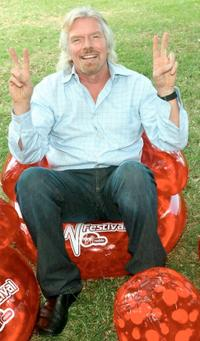 Richard Branson at the V Festival.