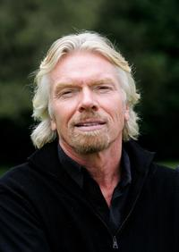Richard Branson at the photocall to launch Virgin Media's new television channel Virgin 1.