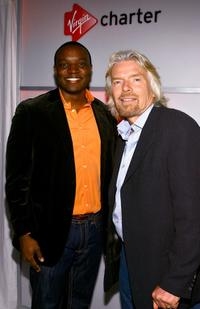Kwame Jackson and Richard Branson at the event for Virgin Charter.