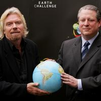 Richard Branson and Al Gore at the launch of