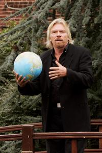 Richard Branson at the launch of