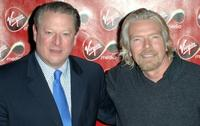 Al Gore and Richard Branson at the Virgin Media Launch party.