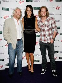 Richard Branson, Ana Ivanovic and Sam Branson at the Sony Ericsson WTA Tour pre-Wimbledon Player party.