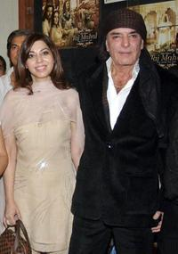 Feroz Khan and Guest at the premiere of