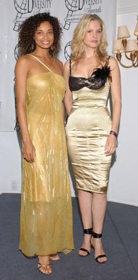 Rochelle Aytes and Andrea Roth at the 11th Annual Diversity Awards.