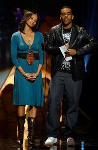 Rochelle Aytes and Mario at the 21st Annual Soul Train Music Awards.