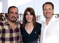 David Zayas, Jennifer Carpenter and Robert Greenblatt at the Showtime Championship Boxing Hosts