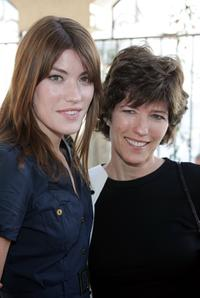 Jennifer Carpenter and Catherine Mitchell at the Showtime Championship Boxing Hosts