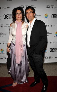 Arsinee Khanjian and Atom Egoyan at the premiere of