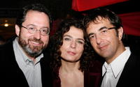 Michael Barker, Arsinee Khanjian and Atom Egoyan at the 2008 Toronto International Film Festival.