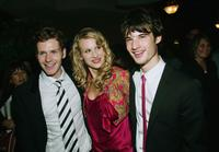 Shaun Evans, Lucy Punch and Tom Sturridge at the opening night party of 2004 Toronto International Film Festival.