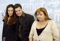 Yael Abecassis, Amos Gitai and Hanna Laslo at the Venice International Film Festival.