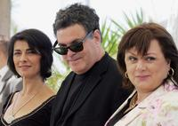 Hiam Abbass, Director Amos Gitai and Hanna Laslo at the photocall of