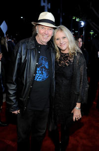 Neil Young and Pegi Young at the 2012 MusiCares Person of the Year Tribute to Paul McCartney.