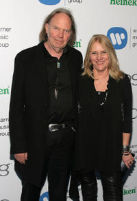 Neil Young and Pegi Young at the Warner Music Group's 2011 Post GRAMMY Event.