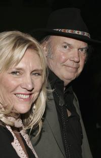 Pegi Young and Neil Young at the Los Angeles premiere of