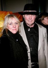 Pegi Young and Neil Young at the New York Screening of