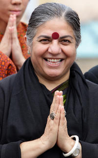 Dr. Vandana Shiva at the Peace Festival in Sydney.