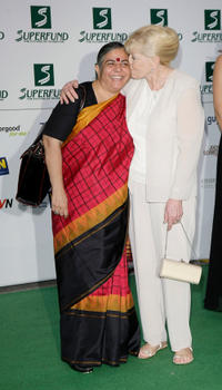 Dr. Vandana Shiva and Betty Williams at the Save The World Awards.