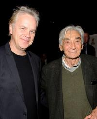 Tim Robbins and Howard Zinn at the premiere of