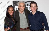 Kerry Washington, Howard Zinn and Matt Damon at the MoMA's 8th Annual Documentary Fortnight.