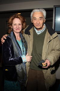 Melissa Leo and Howard Zinn at the People Speak ASCAP Music Cafe performance during the 2009 Sundance Music Festival.