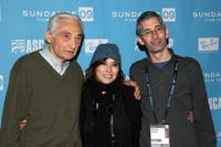 Howard Zinn, Loretta Munoz and Anthony Arnove at the People Speak ASCAP Music Cafe performance during the 2009 Sundance Music Festival.