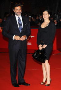 Luca Barbareschi and Guest at the premiere of