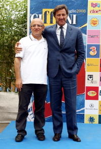 Director Claudio Gubitosi and Luca Barbareschi at the Giffoni Film Festival.