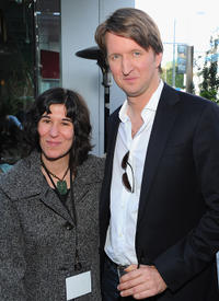 Debra Granik and Tom Hooper at the 2011 Independent Spirit Awards Filmmaker Grant and Nominee Brunch.