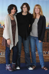 Debra Granik, producer Anne Rosellini and producer Alix Madigan at the photocall for