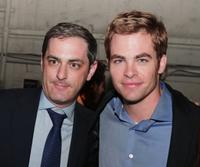 John Lesher and Chris Pine at the after party of the California premiere of