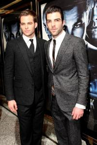 Chris Pine and Zachary Quinto at the UK premiere of