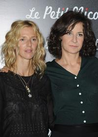 Sandrine Kiberlain and Valerie Lemercier at the premiere of