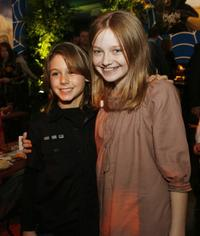 Dominic Scott Kay and Dakota Fanning at the afterparty of the Los Angeles premiere of