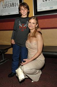 Dominic Scott Kay and Kyra Sedgwick at the premiere of