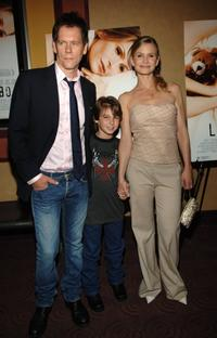 Kevin Bacon, Dominic Scott Kay and Kyra Sedgwick at the premiere of