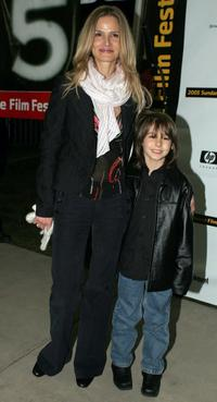 Kyra Sedgwick and Dominic Scott Kay at the premiere of
